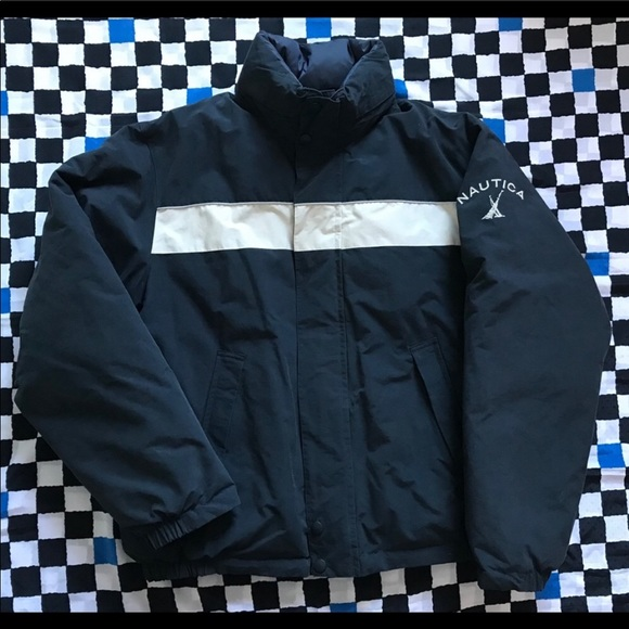 Nautica Jackets Coats Vintage Reversible Puffer Jacket Poshmark